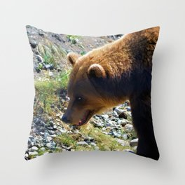 Griz - Wildlife Art Print Throw Pillow