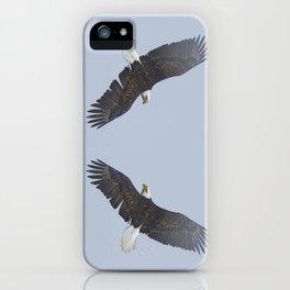 Soaring - Bald Eagle and Blue Sky iPhone Case