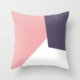 pink navy white Throw Pillow
