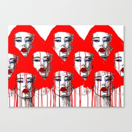 Red people Canvas Print