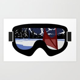 Race Day Goggles | DopeyArt Art Print