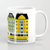 budapest Mugs featuring Budapest by koivo