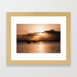 Sunset In Southern Brazil Framed Art Print