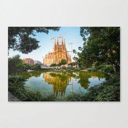 Sunrise at the Sagrada Familia Canvas Print