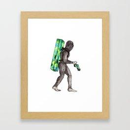 Bouldering Yeti Framed Art Print