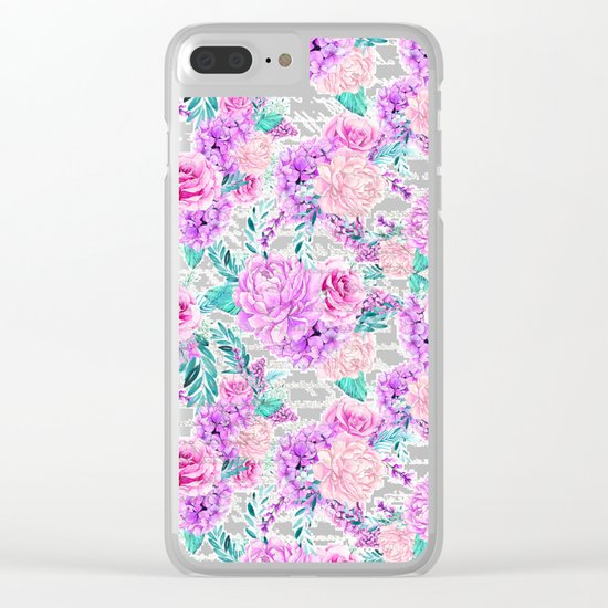 Floral Ice Cream 04 Clear iPhone Case