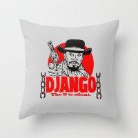 django Throw Pillows featuring Django logo by Buby87