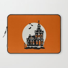 Vintage Style Haunted House - Happy Halloween Laptop Sleeve