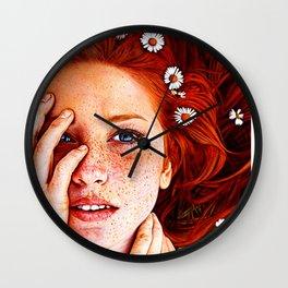 Quintessentially Redhead - Ballpoint Pen Wall Clock