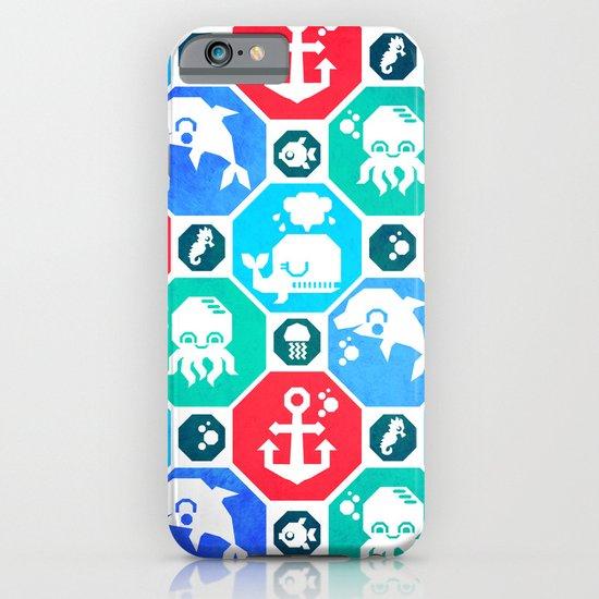 Marine Animals Geometric Pattern iPhone & iPod Case