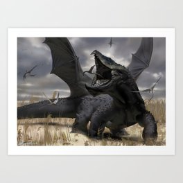 Dragon Hunt Art Print