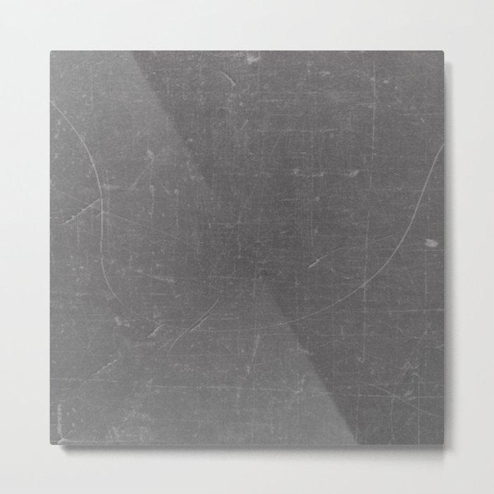 Gray and White School BlackBoard Metal Print