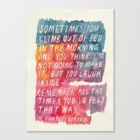 bukowski Canvas Prints featuring Charles Bukowski by Mei Lee