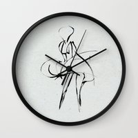 marilyn Wall Clocks featuring marilyn by Magdalla Del Fresto