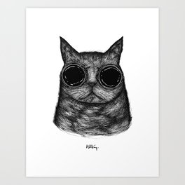 Amici Cool Cat  Art Print