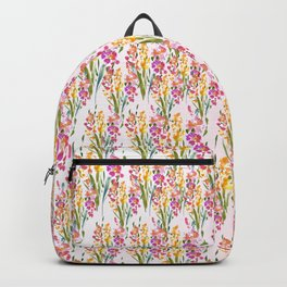 Yellow Pink Pretty Floral Backpack