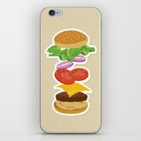 burger iPhone & iPod Skins featuring Burger by Daily Design