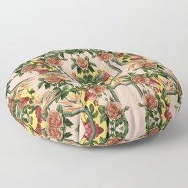 Retro Jungle Rose Floor Pillow