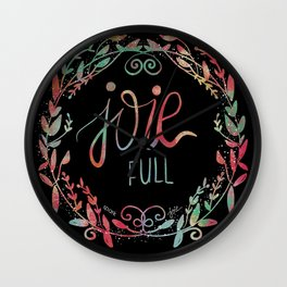 Joie Full Wall Clock