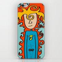 super hero iPhone & iPod Skins featuring Joe Pansa Super Hero by Joe Pansa