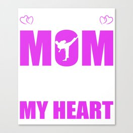 Karate Moms Full Heart Mothers Day T-Shirt Canvas Print