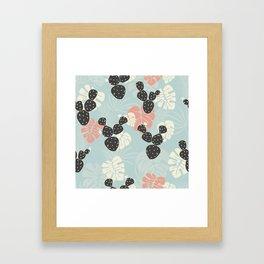 Tropical pattern 052 Framed Art Print