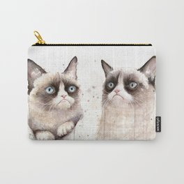 Grumpy Watercolor Cats Carry-All Pouch