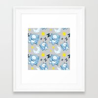 cryaotic Framed Art Prints featuring Cryaotic Pj Pants Design by xWishCraftx/Mischakins