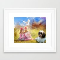 angels Framed Art Prints featuring Angels by Rich Okun