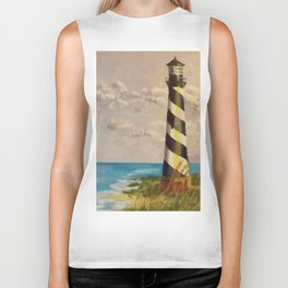 Cape Hatteras Lighthouse Biker Tank