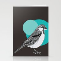sparrow Stationery Cards featuring Sparrow by Rachel Russell