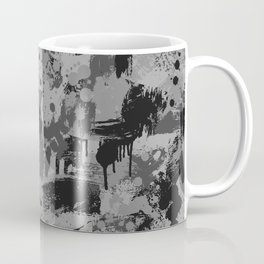 CUSTOM BLACK & GREY SPLATTER CAMO 2 Coffee Mug
