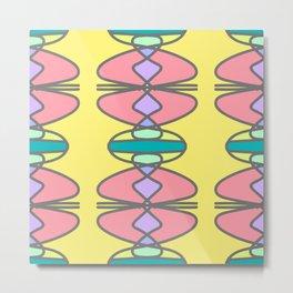 Multicolored retro stylized seamless pattern Metal Print