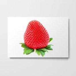 Srawberry on White Metal Print