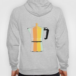 Retro Coffee Pot - Vintage Spring Colors on Deep Breath Background Hoody