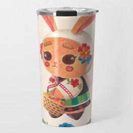 The Cute Bunny in Polish Costume Travel Mug