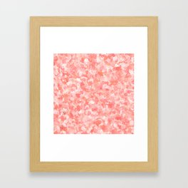 LIVING CORAL - PETITE FLORAL DESIGN Framed Art Print