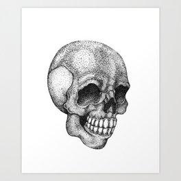 Dot-work skull Art Print