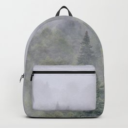 Foggy sunrise. Pinsapos into the woods Backpack