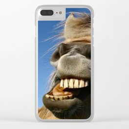Happy Horse Photography Print Clear iPhone Case