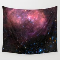 large Wall Tapestries featuring Large Magellanic Cloud by EarthMoonStars