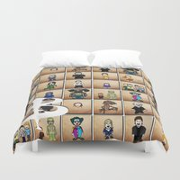 buffy the vampire slayer Duvet Covers featuring Buffy the Vampire Slayer: Season One by BovaArt