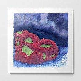 Kryptonite Coral Metal Print