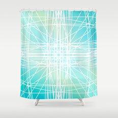 Linear Oceanblast Shower Curtain