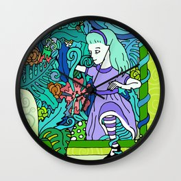 TOXIC LOOKING GLASS- ALICE IN WONDERLAND Wall Clock