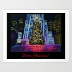 Christmas in Manhattan-Merry Christmas DP150902c Art Print