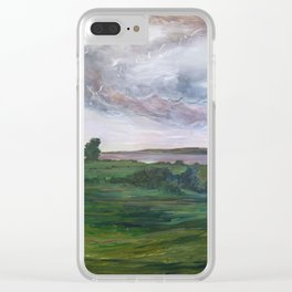 Down the Hill of History I Ran Clear iPhone Case