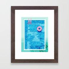 Chillin' - poolside palm springs vacation resort tropical swim swimming retro neon throwback 1980s Framed Art Print