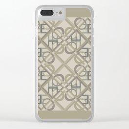 Interlaced Love Mandala Tiled - Warm Neutral Clear iPhone Case