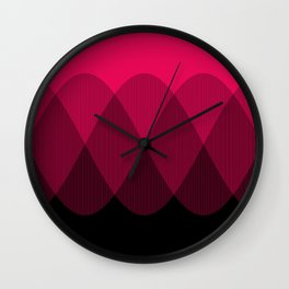 Bright red to Black Ombre Signal Wall Clock
